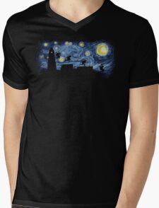 Starry Fight Mens V-Neck T-Shirt