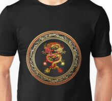 Brotherhood of the Snake - The Red and The Yellow Dragons on Black Velvet Unisex T-Shirt