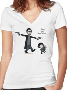Leon and Mathilda Women's Fitted V-Neck T-Shirt