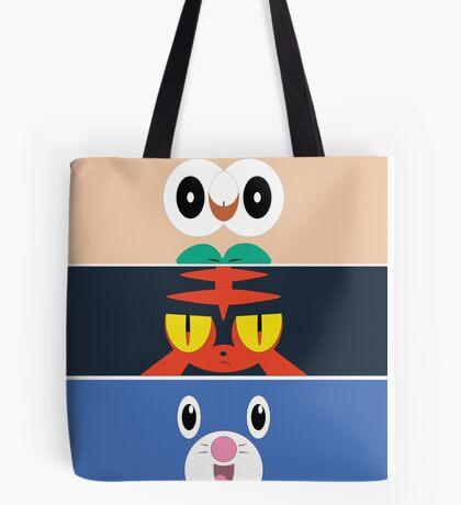 Pokemon Sun and Moon Starters Tote Bag