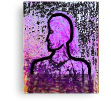 The Punk and the Sculpture Canvas Print