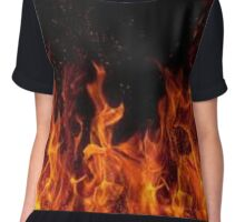 Flaming Fire In the dark Chiffon Top