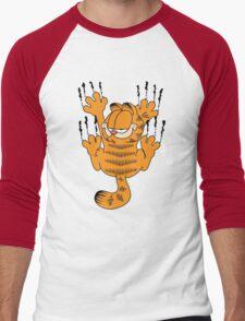 Funny Garfield Scratching Men's Baseball ¾ T-Shirt