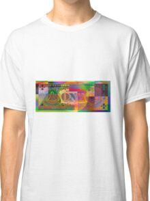 Pop-Art Colorized One U. S. Dollar Bill Reverse Classic T-Shirt