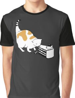 Science Cat STICKER Graphic T-Shirt