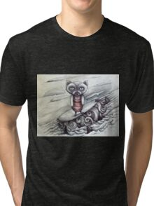 surfing grumpy cat art Tri-blend T-Shirt