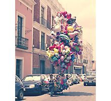 Balloon Lady Photographic Print