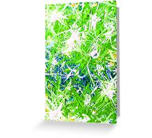 Storm Front Green White Blue Aqua Turquoise Design Designer Bursts Blasts Abstract Yellow  Greeting Card