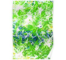 Storm Front Green White Blue Aqua Turquoise Design Designer Bursts Blasts Abstract Yellow  Poster