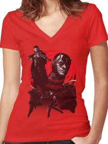Devil In The Line Of Fire - Alternate Women's Fitted V-Neck T-Shirt