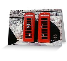 two red doors Greeting Card