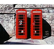 two red doors Photographic Print