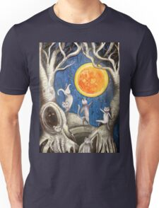 they dance under the light of the moon paper cut Unisex T-Shirt