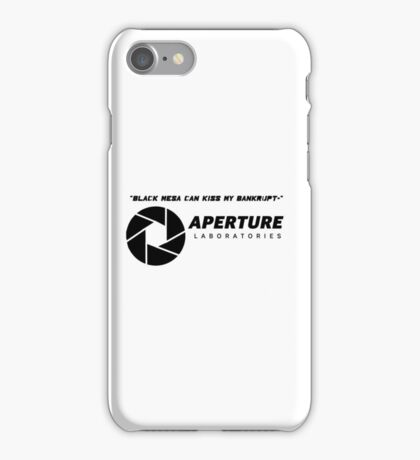 Portal 2 Cave Johnson Quote iPhone Case/Skin