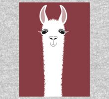 MARSALA LLAMA PORTRAIT One Piece - Short Sleeve