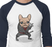 Frenchie Ninja Men's Baseball ¾ T-Shirt