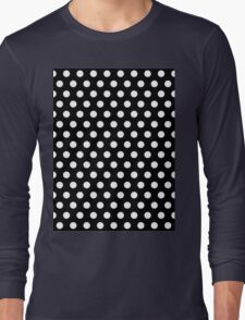 Polkadots Black and White Long Sleeve T-Shirt