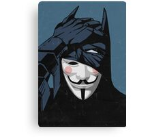 V for Batman Canvas Print