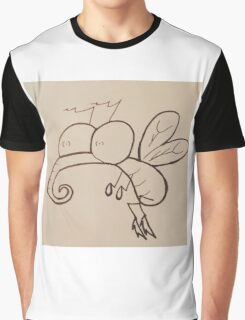 Crazy-Eyed Cartoon Mosquito Graphic T-Shirt