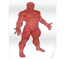 the Muscle Man Medical Model Poster