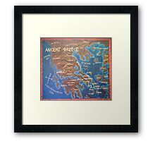 Map of Ancient Greece Framed Print