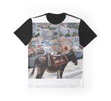 Greek Donkey Graphic T-Shirt