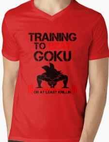 Training To Beat Goku Mens V-Neck T-Shirt
