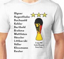 West Germany 1990 World Cup Final Winners Unisex T-Shirt