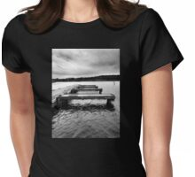 Steps across the water. Womens Fitted T-Shirt