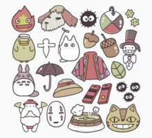 ghibli collage One Piece - Long Sleeve