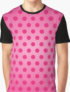 Polka Dot Pink Graphic T-Shirt
