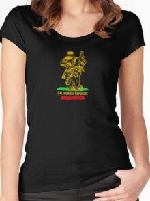 California Republic Logo Women's Fitted Scoop T-Shirt