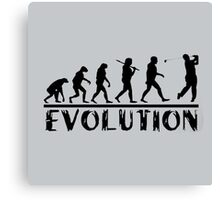 Golf Evolution funny Canvas Print