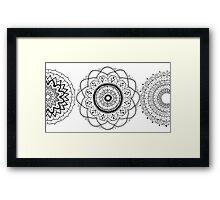 Mandala Flowers Framed Print