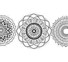 Mandala Flowers Photographic Print