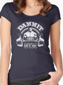 Dammit Gym Women's Fitted Scoop T-Shirt