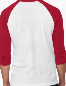 transparent black Men's Baseball ¾ T-Shirt