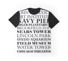 Chicago Landmarks Graphic T-Shirt