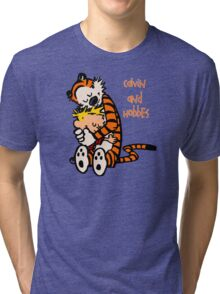 Calvin and Hobbes Comic Tri-blend T-Shirt