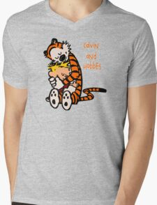 Calvin and Hobbes Comic Mens V-Neck T-Shirt