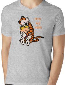 Calvin and Hobbes Comic Mens V-Neck T-Shirt