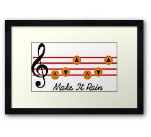 hyrule make it rain Framed Print