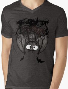 Happy Vampire Bat Mens V-Neck T-Shirt