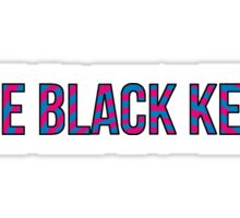Black Keys - Turn Blue Style Font with Outline Sticker