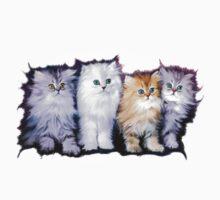 Kitten Family One Piece - Short Sleeve
