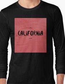 CALIFORNIA black on red Long Sleeve T-Shirt