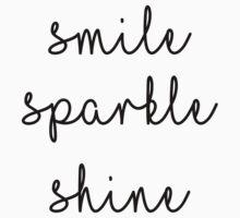 Smile Sparkle Shine One Piece - Short Sleeve