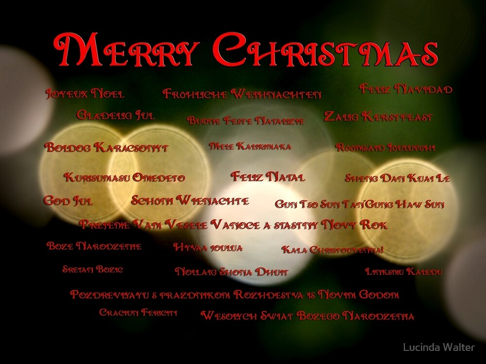 I Want to Wish You A Merry Christmas by Lucinda Walter