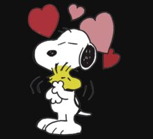 hug valentine snoopy peanut One Piece - Short Sleeve