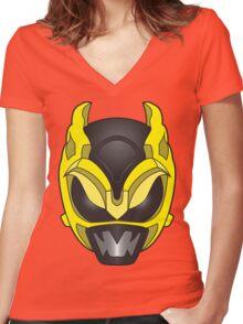 Psycho Yellow Ranger Women's Fitted V-Neck T-Shirt